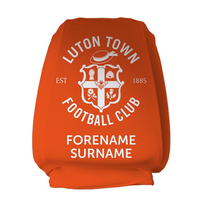 Luton Town FC Mono Crest Headrest Cover