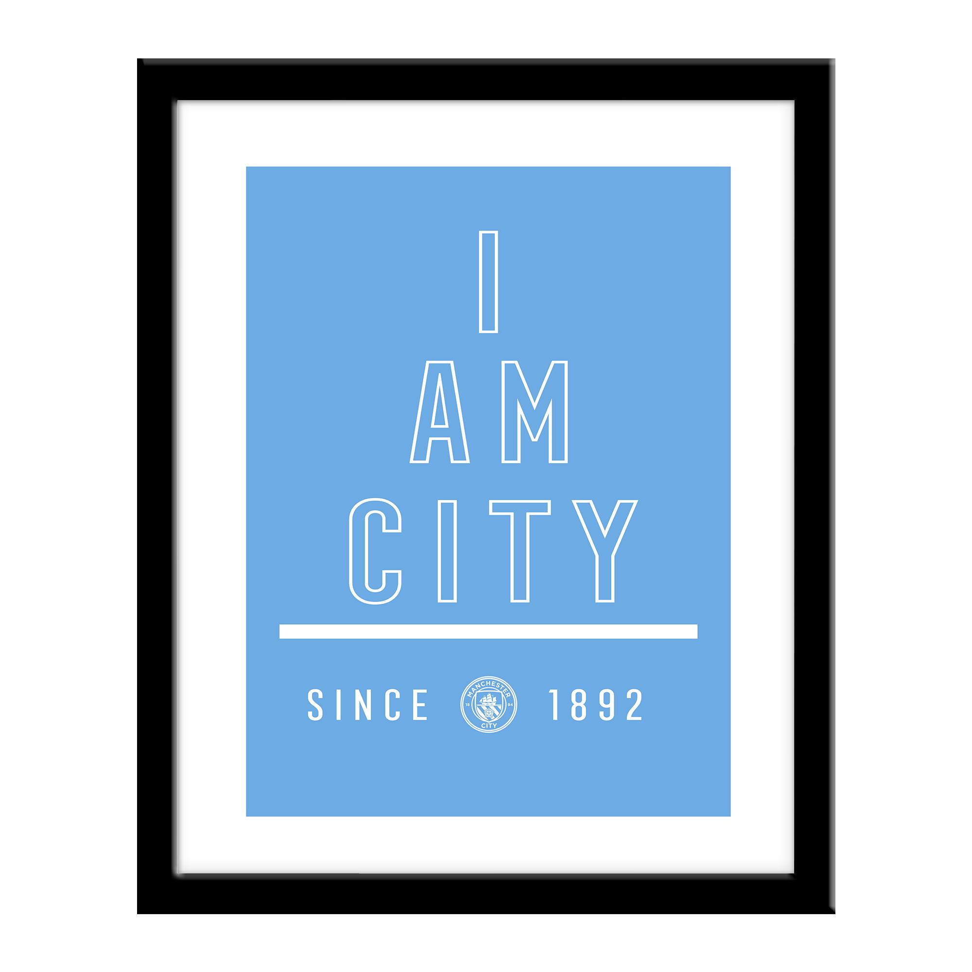 Manchester City FC I Am Print