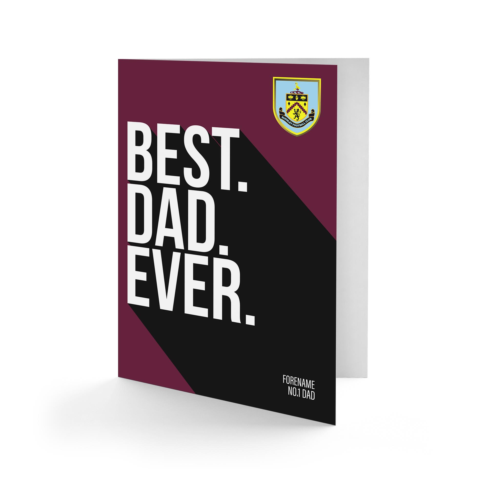 Burnley FC Best Dad Ever Card