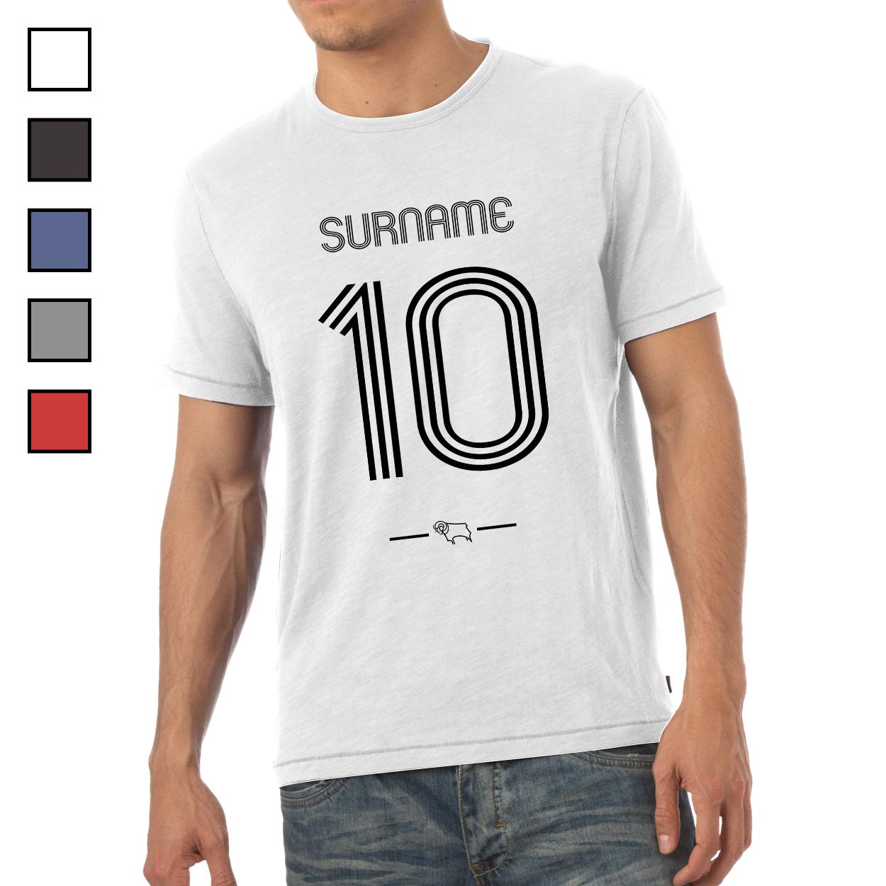 Derby County Retro Shirt Mens T-Shirt