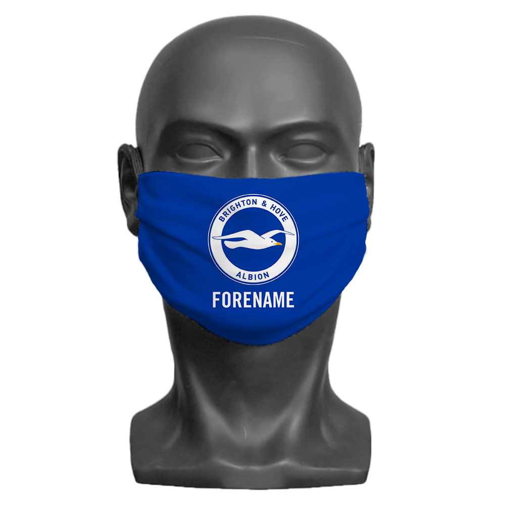 Brighton & Hove Albion FC Crest Adult Face Mask (Medium)
