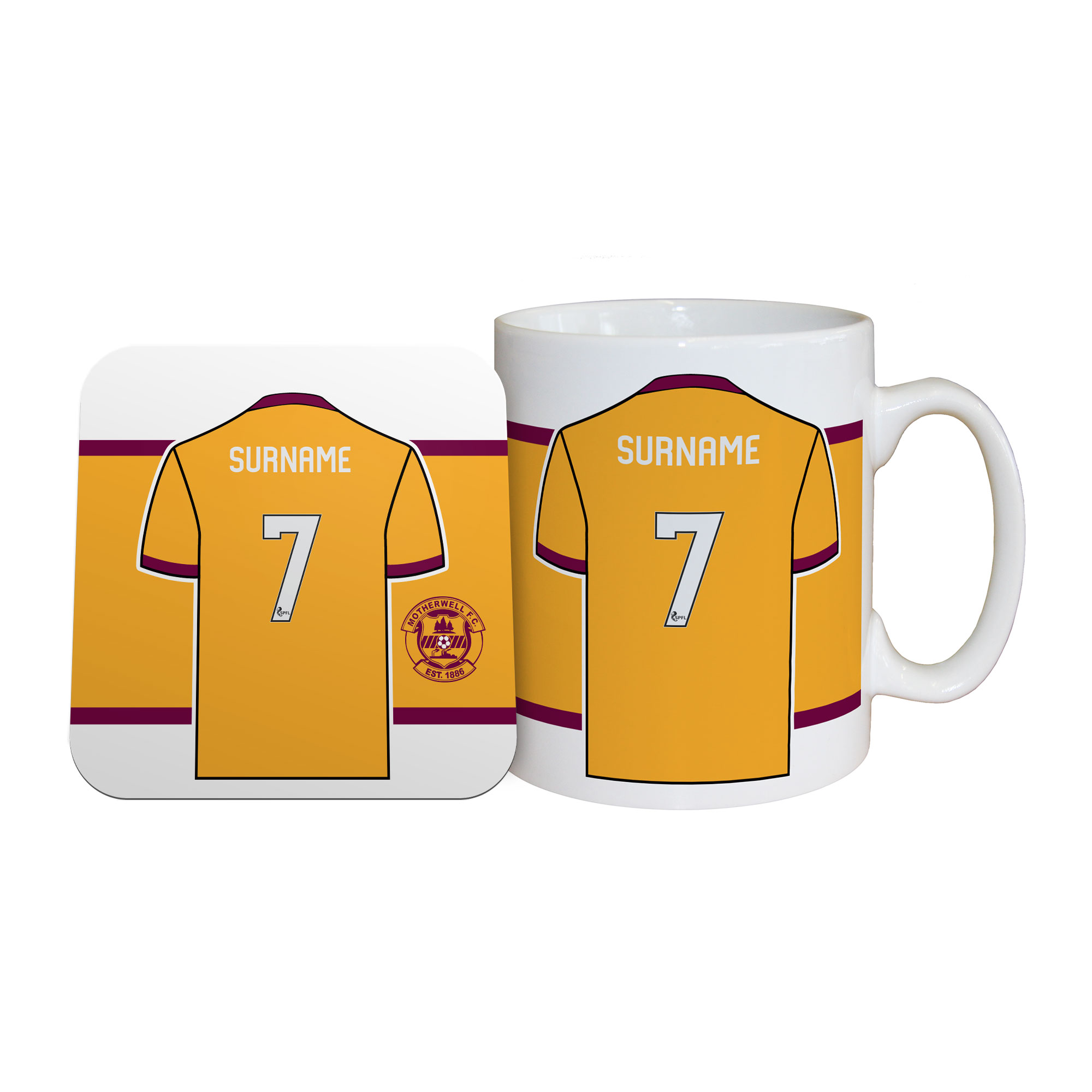 Motherwell FC Shirt Mug & Coaster Set