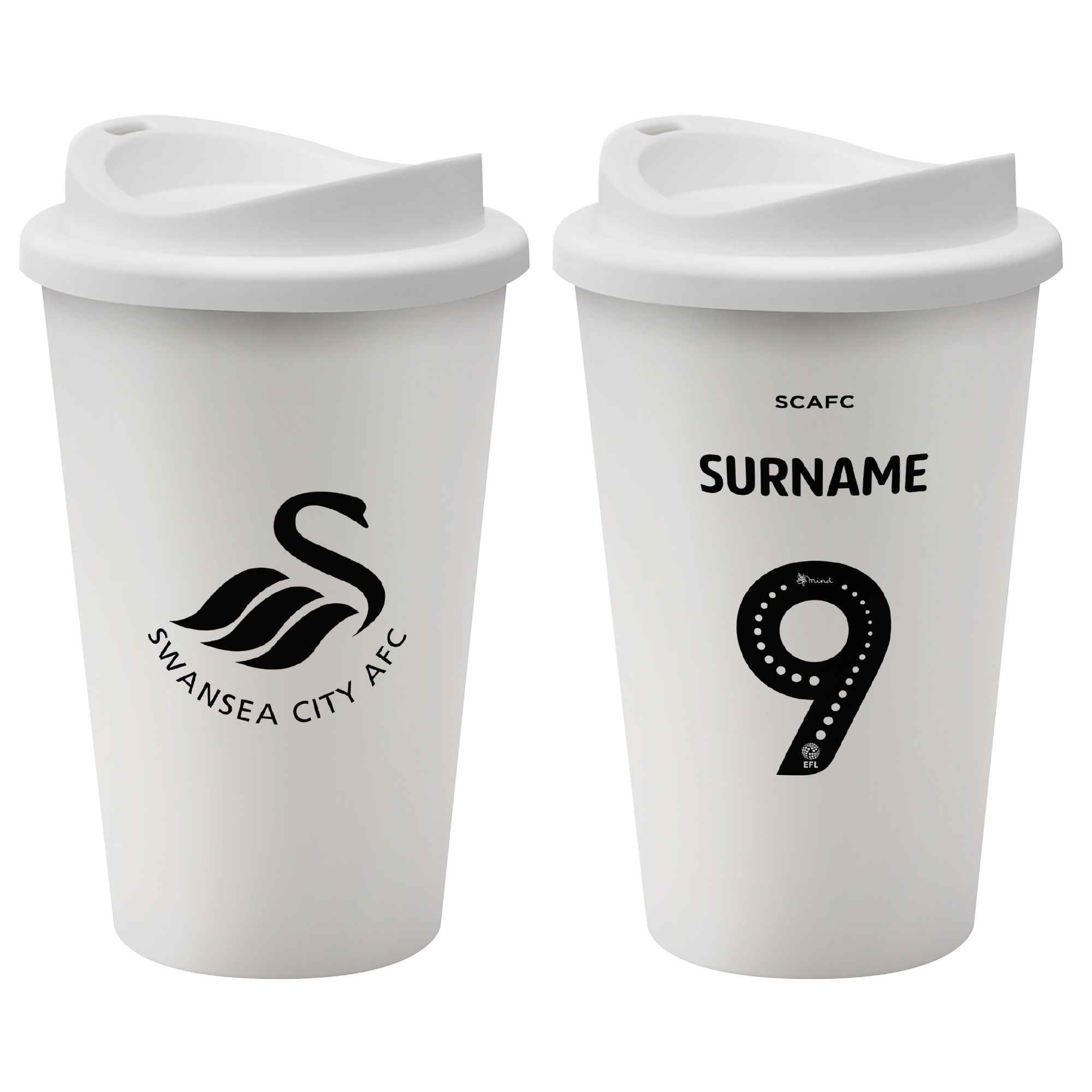 Swansea City AFC Back of Shirt Reusable Cup