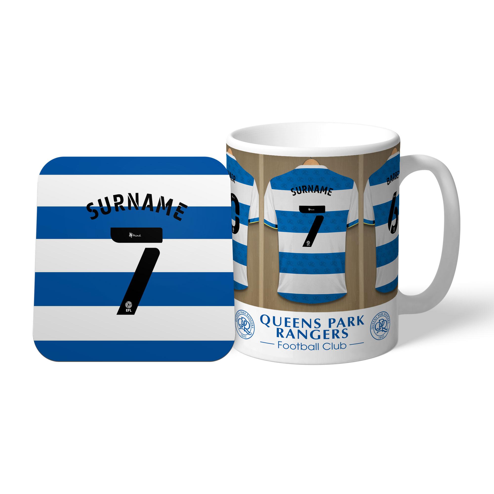 Queens Park Rangers FC Dressing Room Mug & Coaster Set