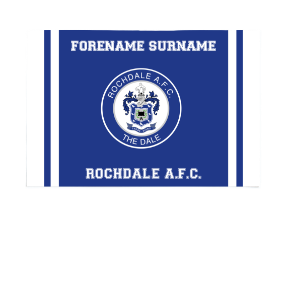 Rochdale AFC Crest 6ft x 4ft Banner