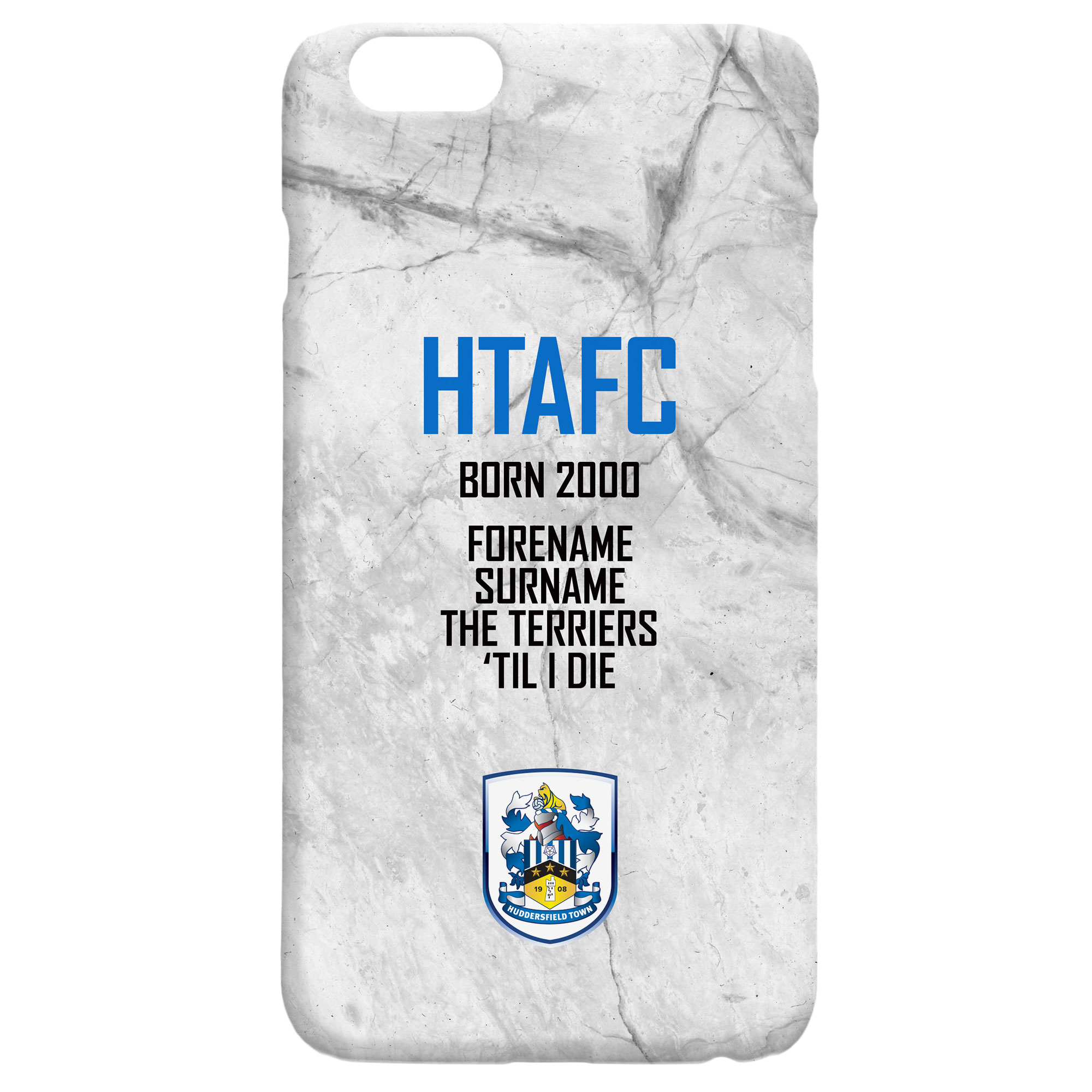 Huddersfield Town 'Til I Die Hard Back Phone Case
