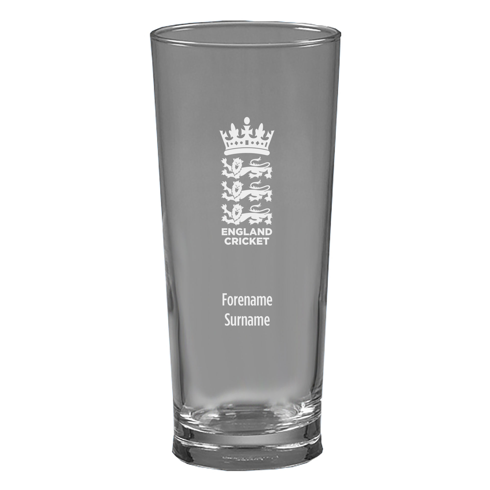 England Cricket Personalised Beer Glass