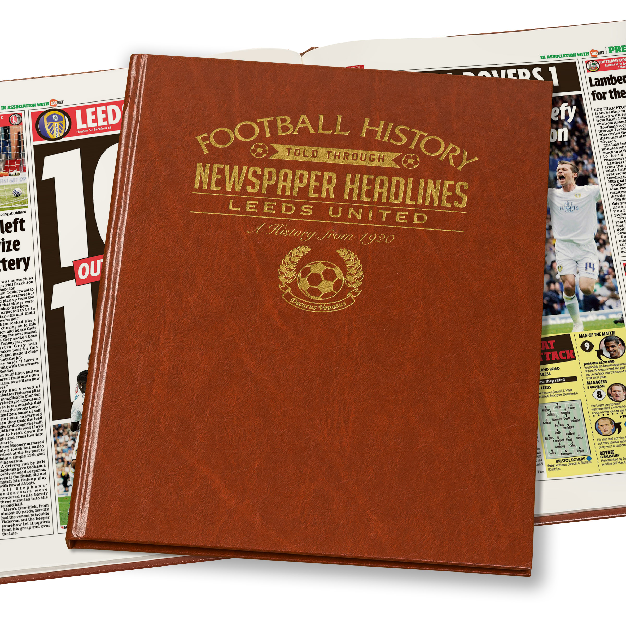 Leeds Football Newspaper Book (Colour Pages)