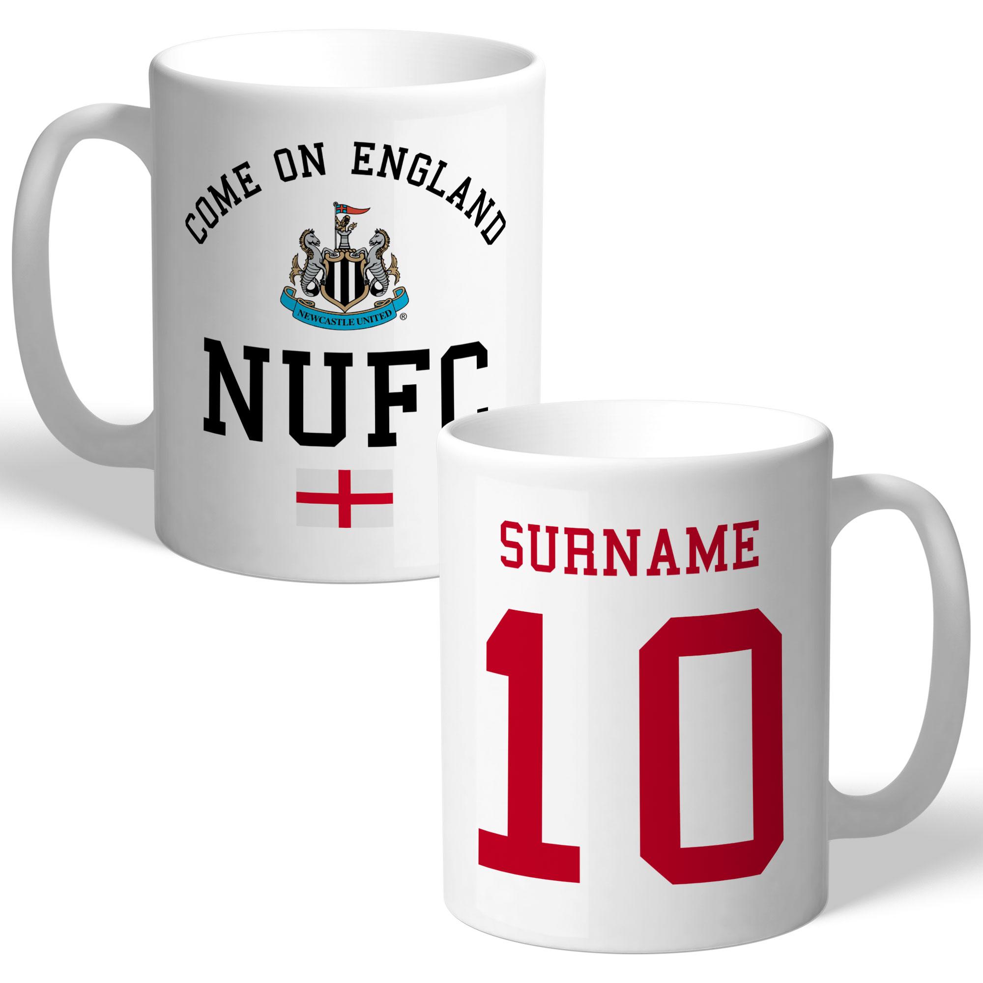 Newcastle United FC Come On England Mug