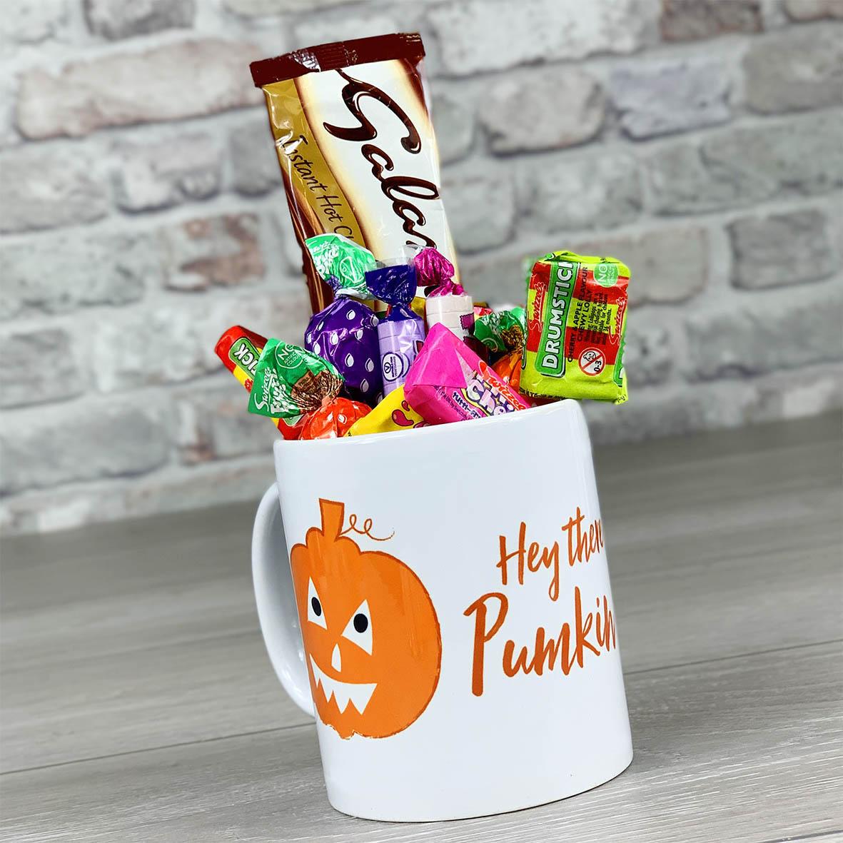 Hey Pumpkin  - Mug With Sweets