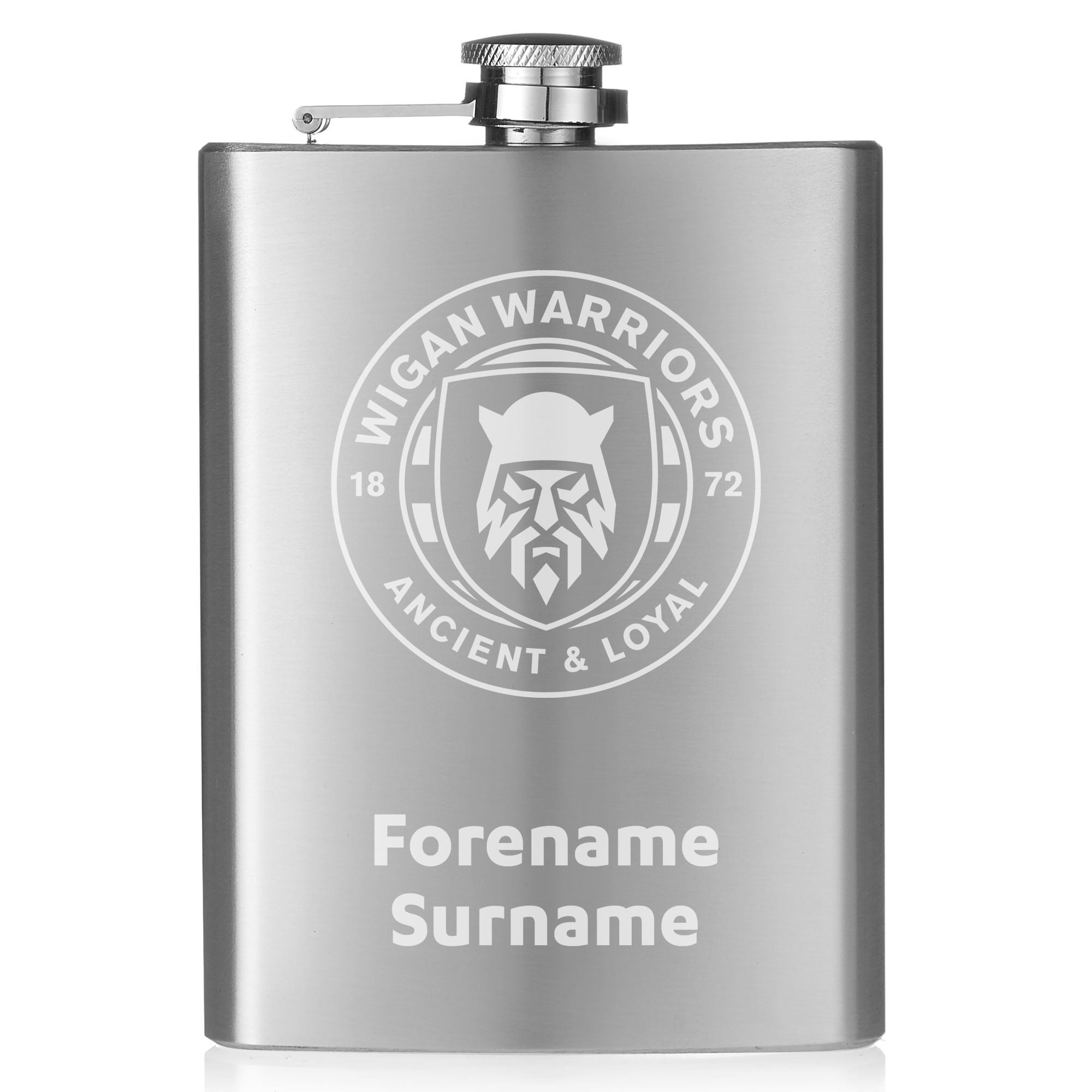 Wigan Warriors Crest Hip Flask