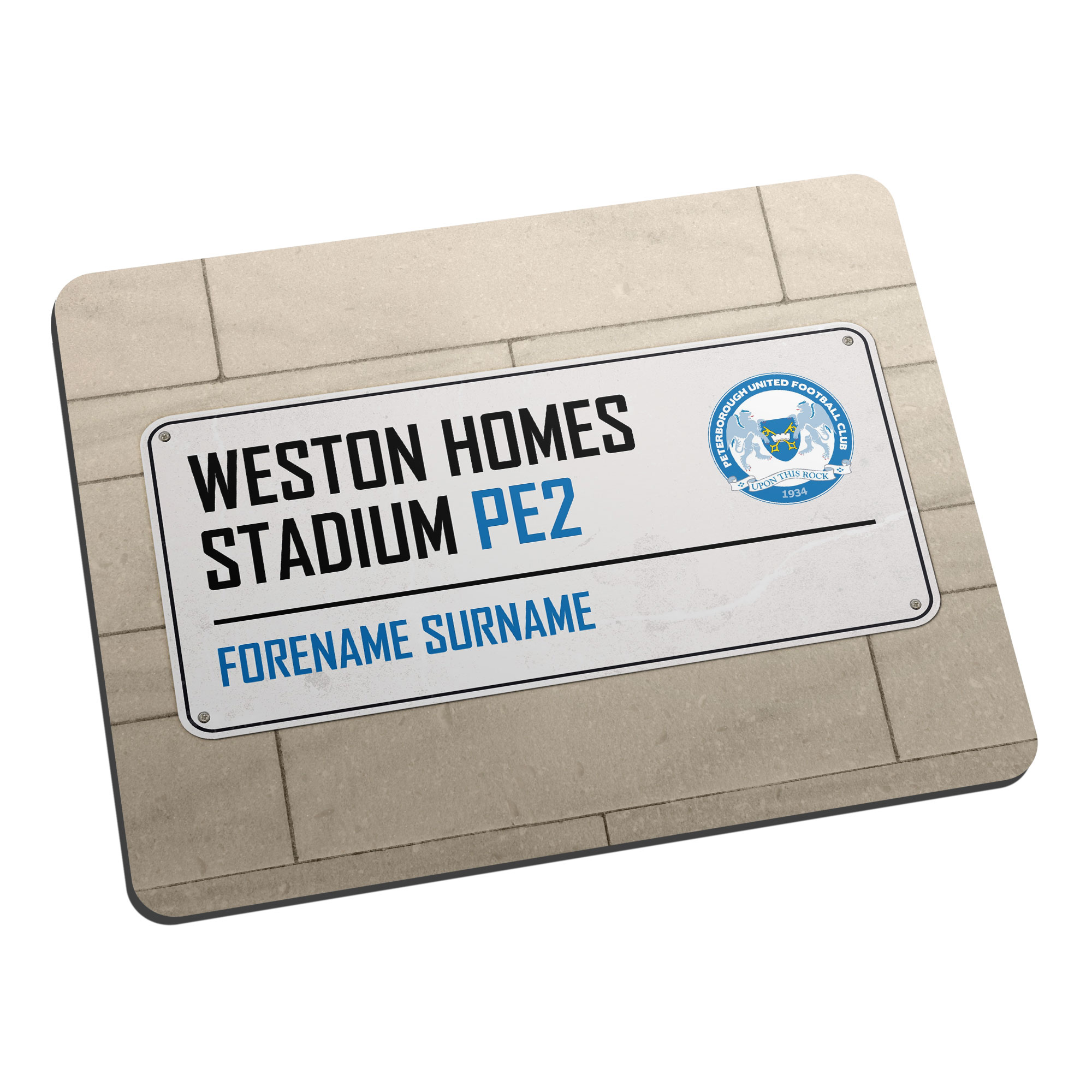 Peterborough United FC Street Sign Mouse Mat