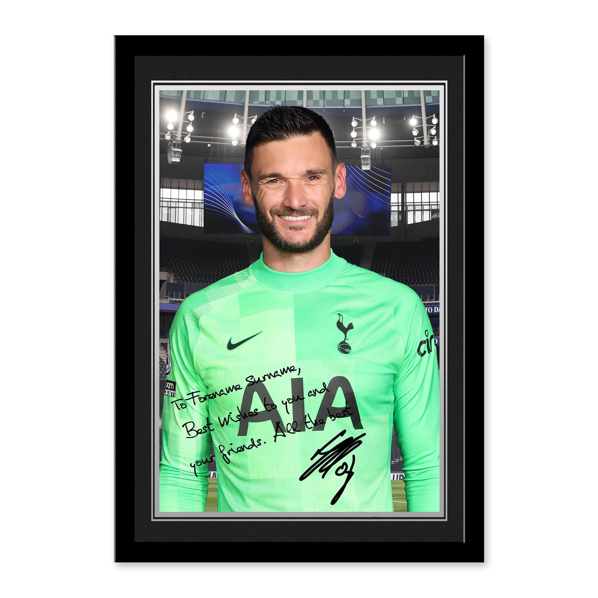 Tottenham Hotspur Lloris Autograph Photo Framed