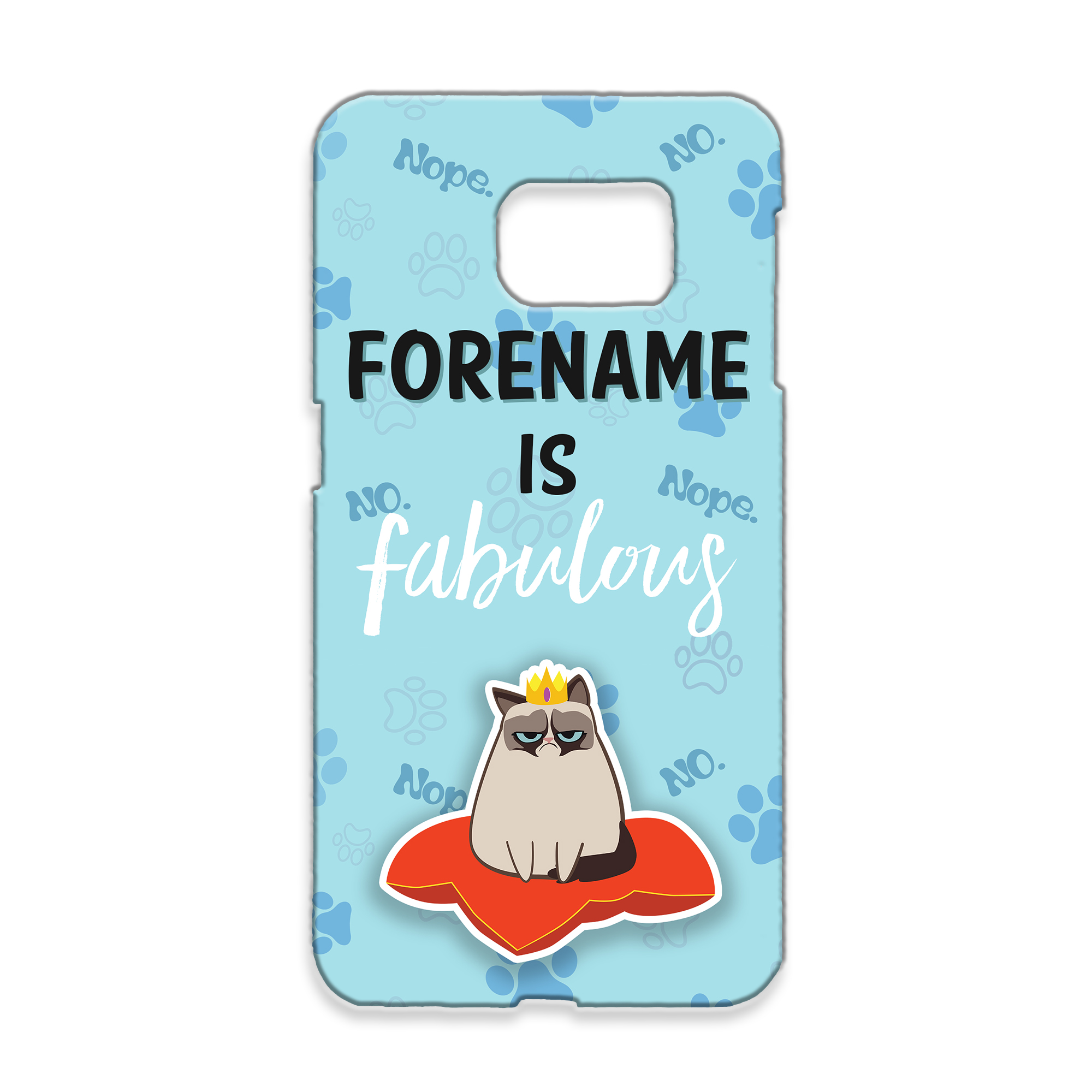 Grumpy Cat Emoji - Fabulous Samsung Case Blue