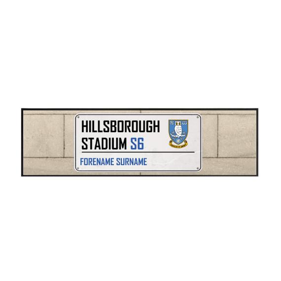 Sheffield Wednesday FC Street Sign Large Bar Runner