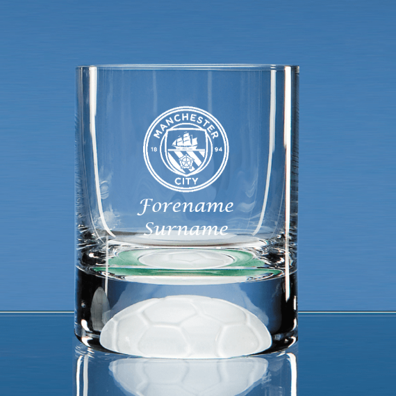 Manchester City FC Personalised Crest Ball Base Tumbler