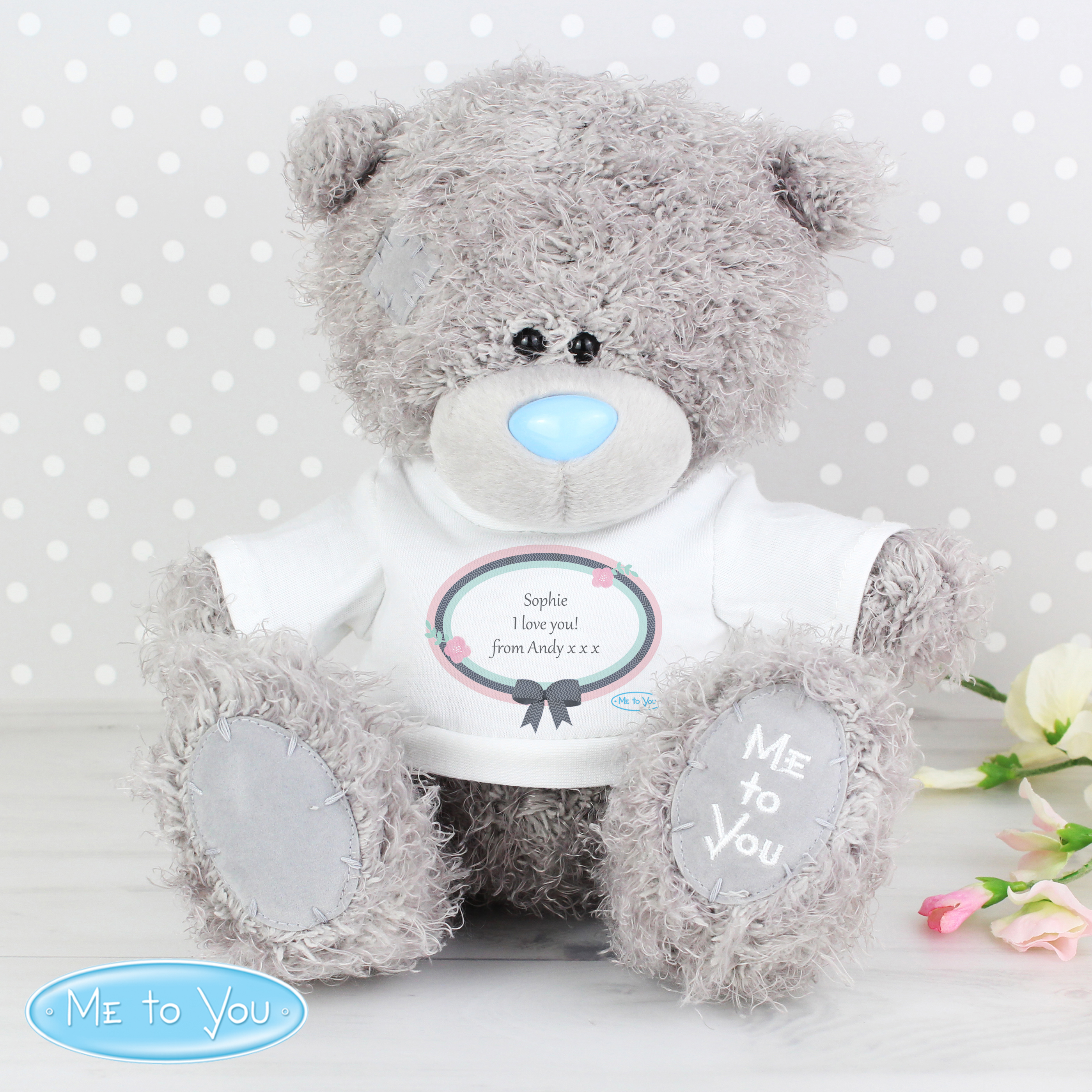 Personalised Me To You Pastel Belle Bear with T-Shirt