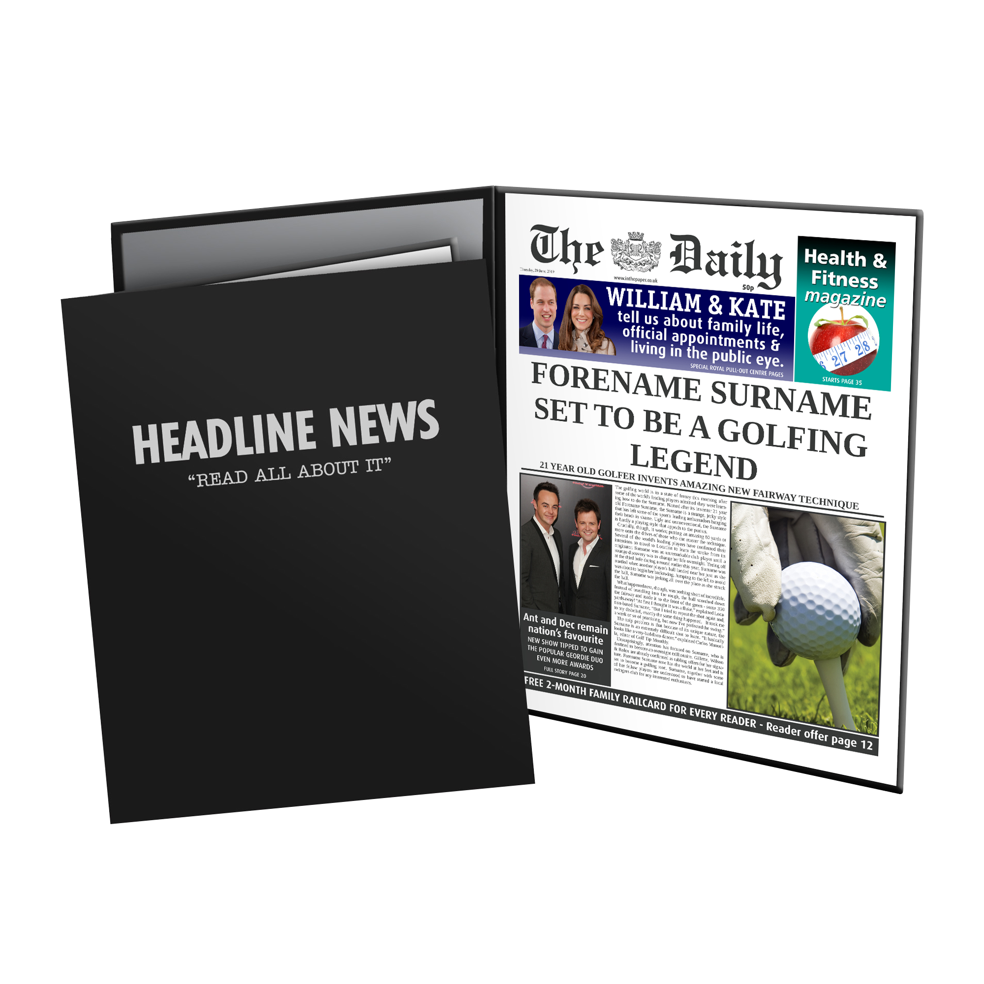 The Daily Golf Legend News Folder - Male