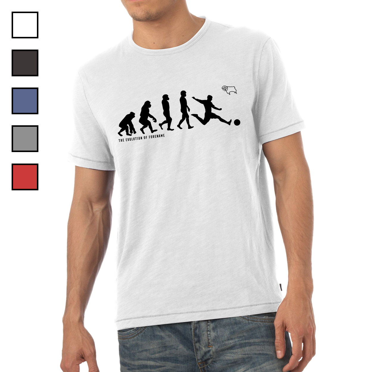 Derby County Evolution Mens T-Shirt