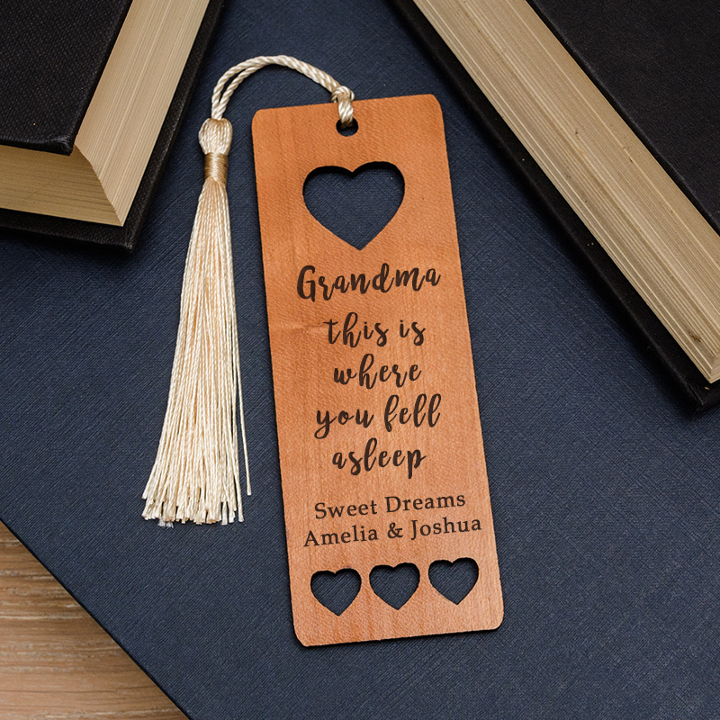 Fell Asleep Wooden Bookmark
