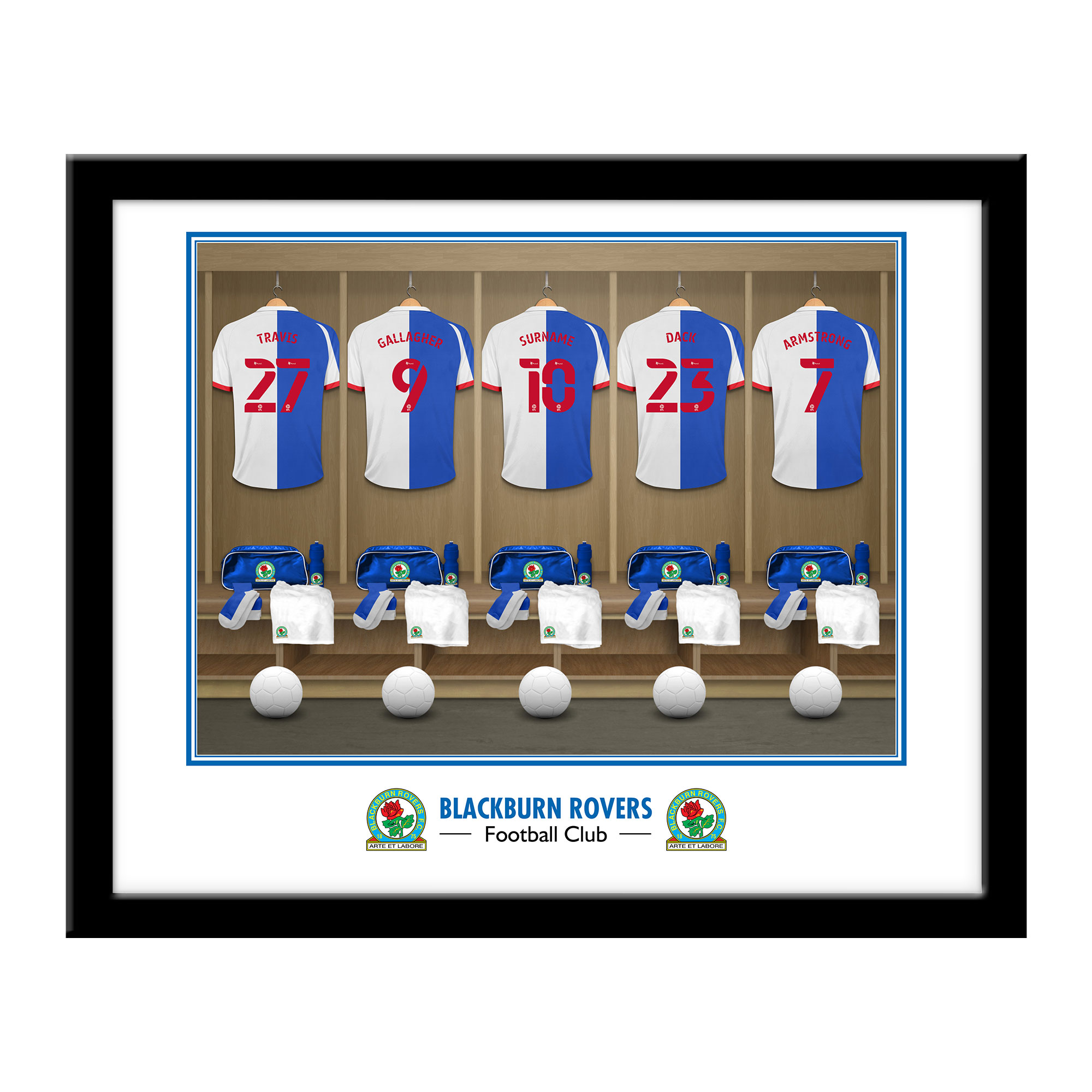 Blackburn Rovers FC Dressing Room Framed Print