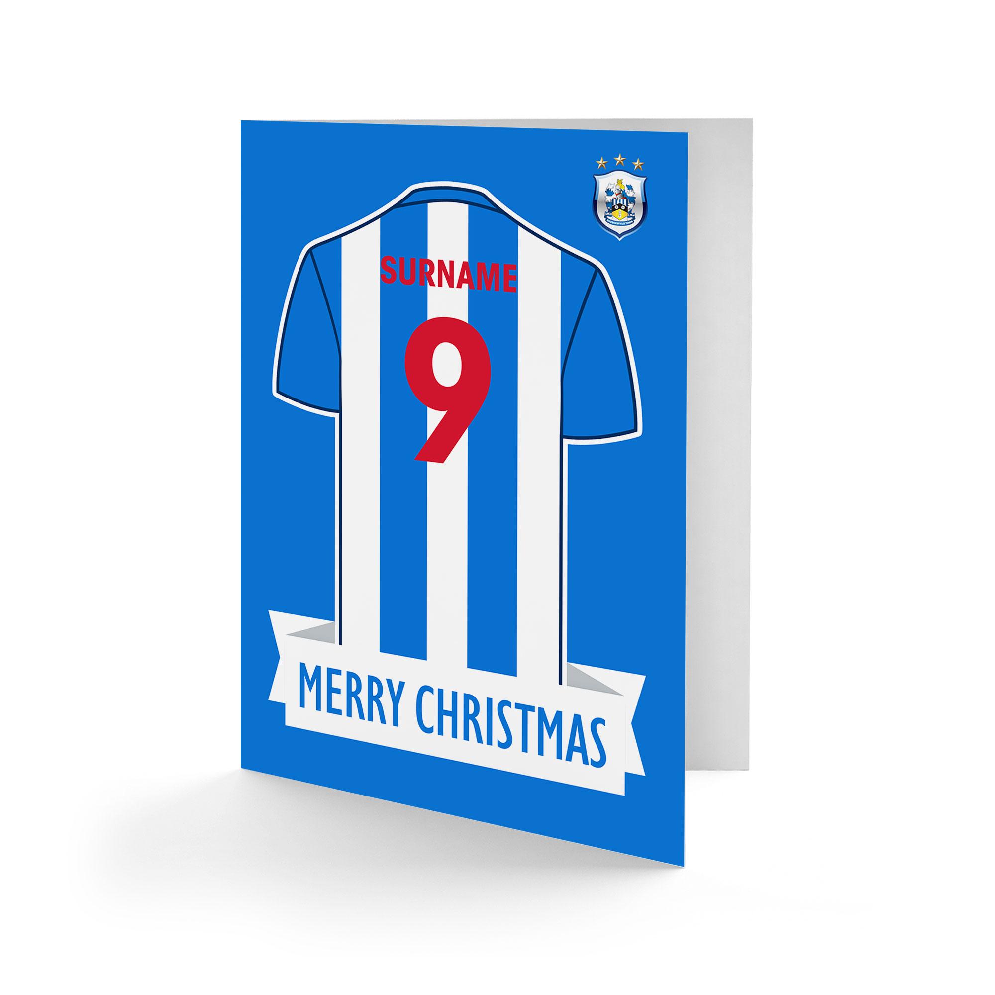 Huddersfield Town Shirt Christmas Card