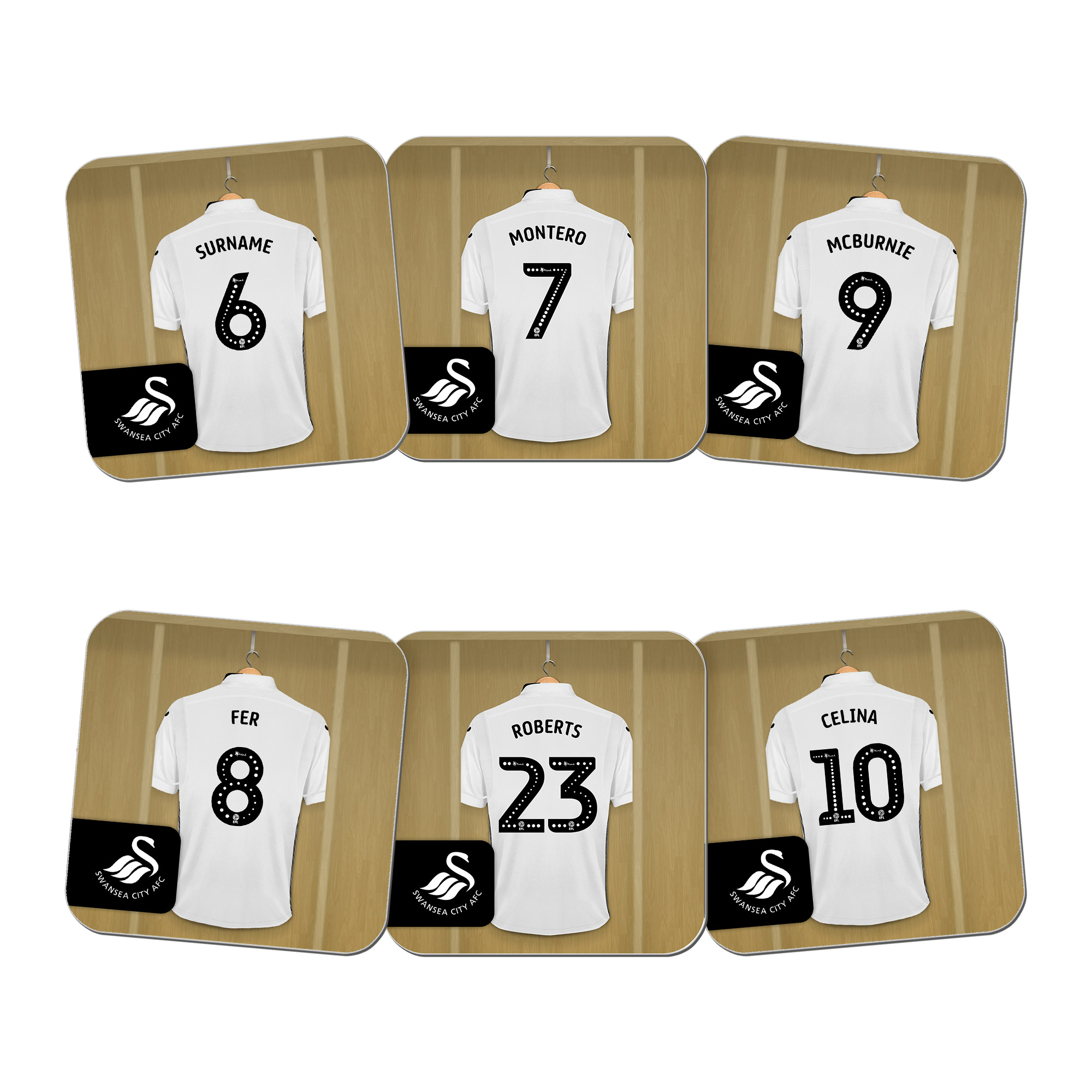 Swansea City AFC Dressing Room Coasters