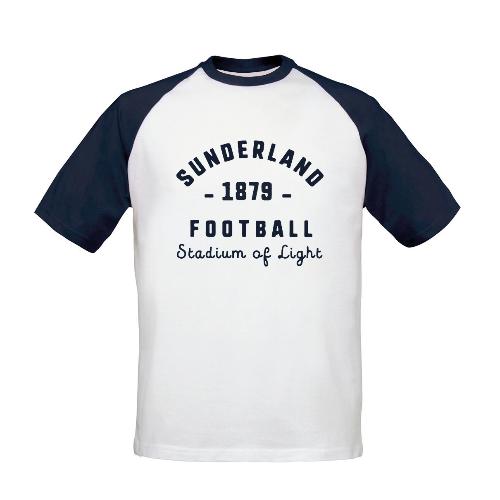 Sunderland AFC Stadium Vintage Baseball T-Shirt