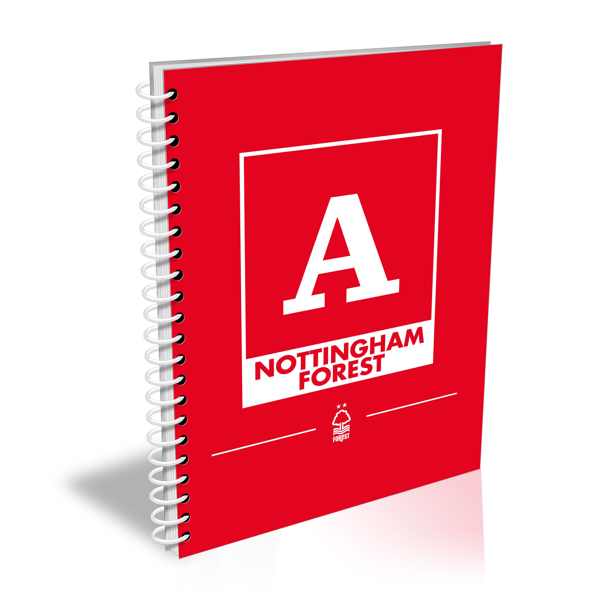 Nottingham Forest FC Monogram A5 Lined Notepad