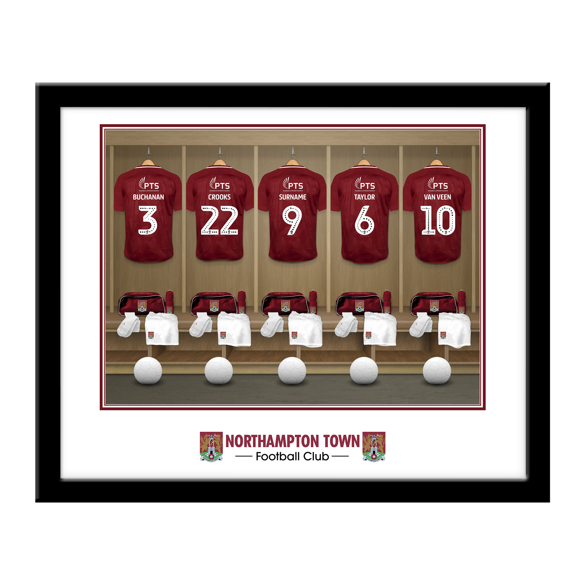 Northampton Town FC Dressing Room Framed Print