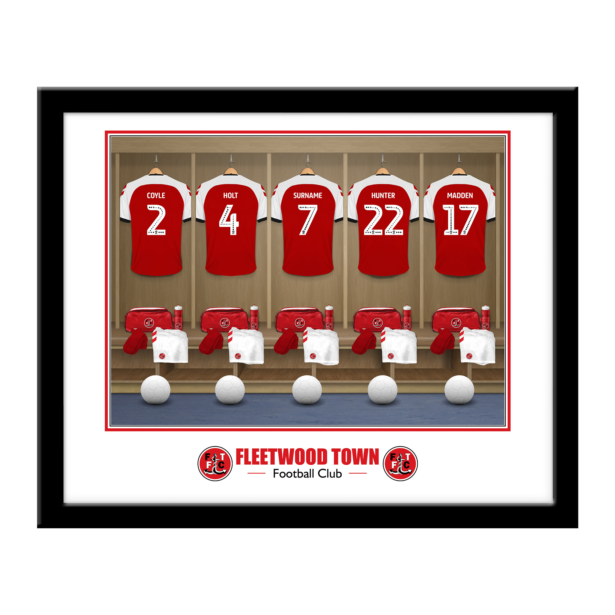 Fleetwood Town FC Dressing Room Framed Print