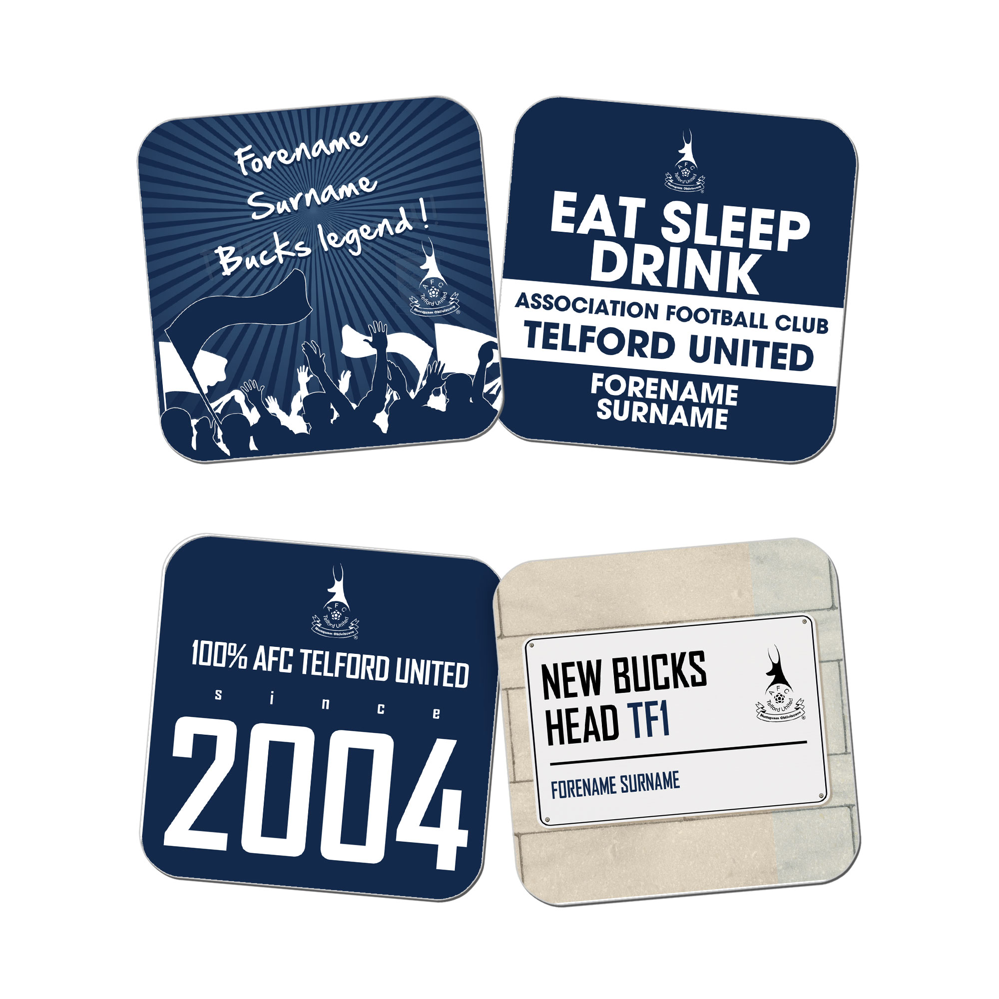 AFC Telford United Coasters