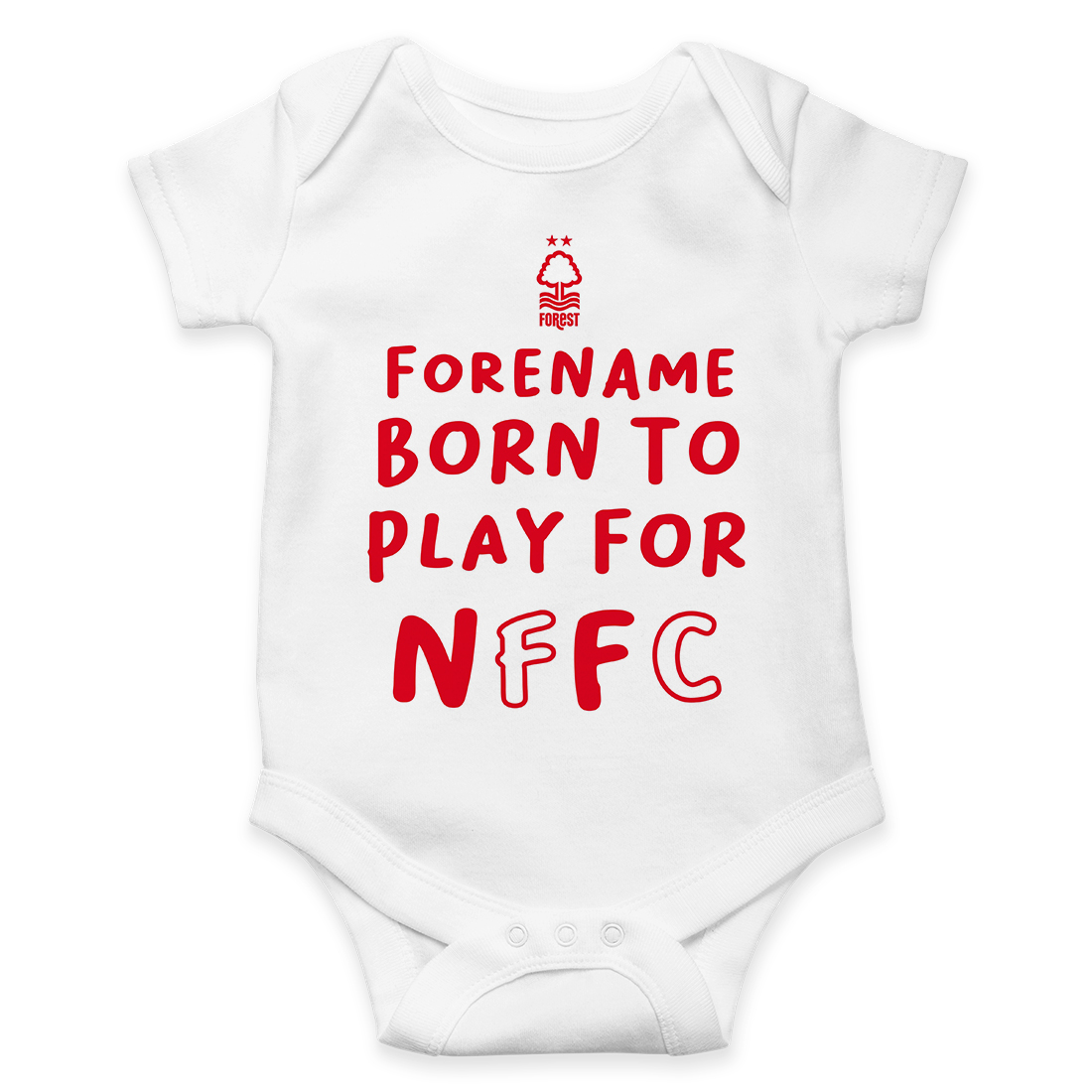 Nottingham Forest FC Born to Play Baby Bodysuit