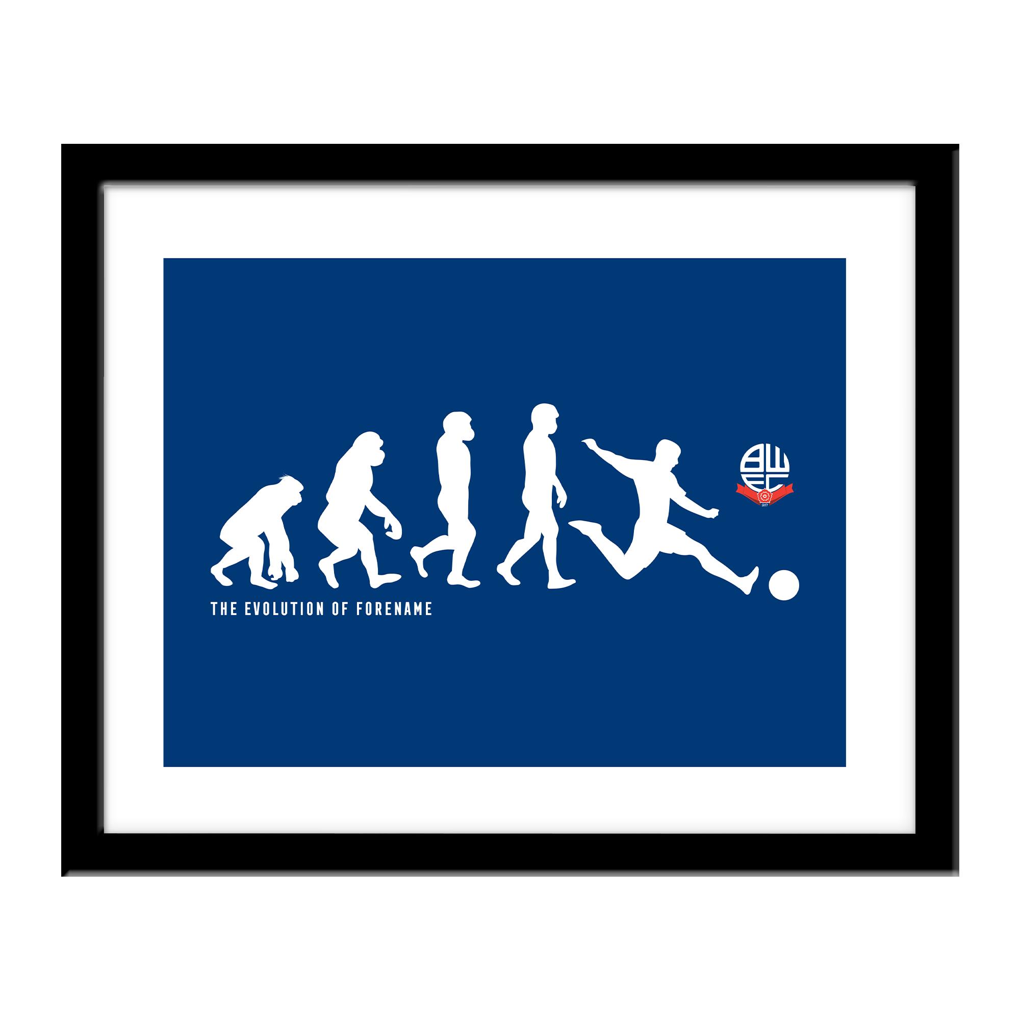Bolton Wanderers Evolution Print