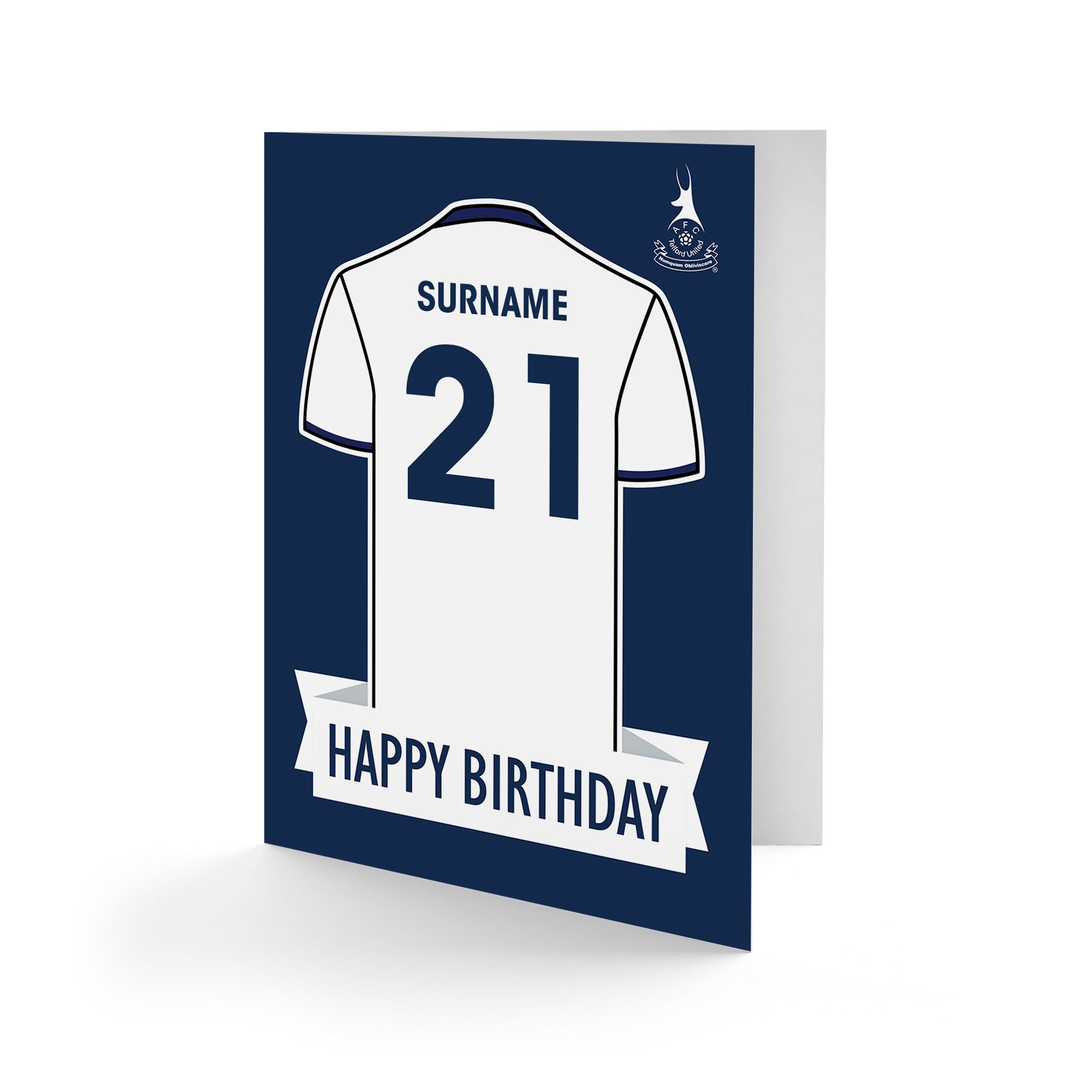AFC Telford United Shirt Birthday Card