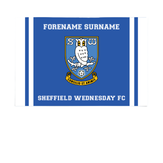 Sheffield Wednesday FC Crest 6ft x 4ft Banner