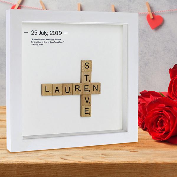 Wooden Letter Tiles on shelf lifestyle