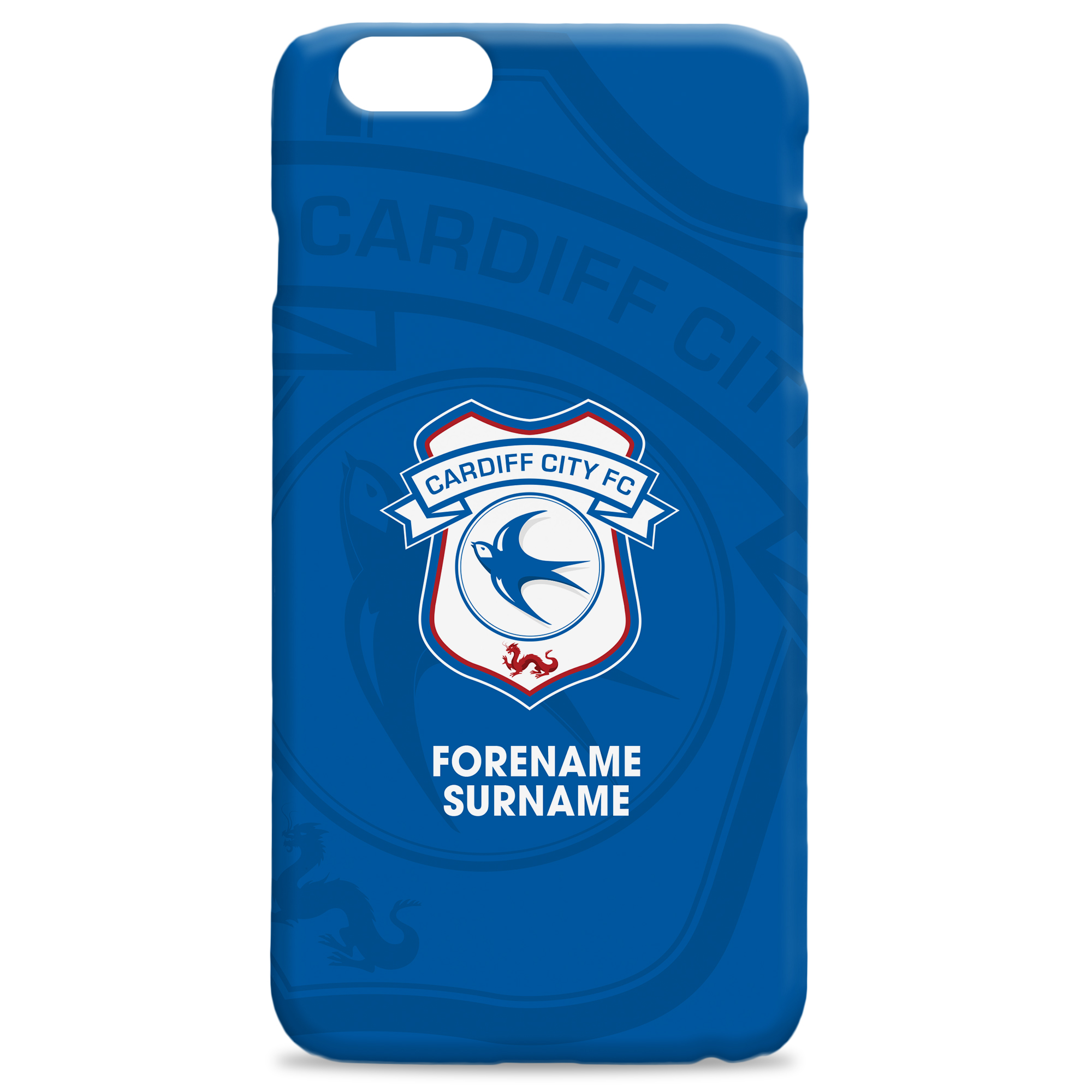 Cardiff City Bold Crest Hard Back Phone Case