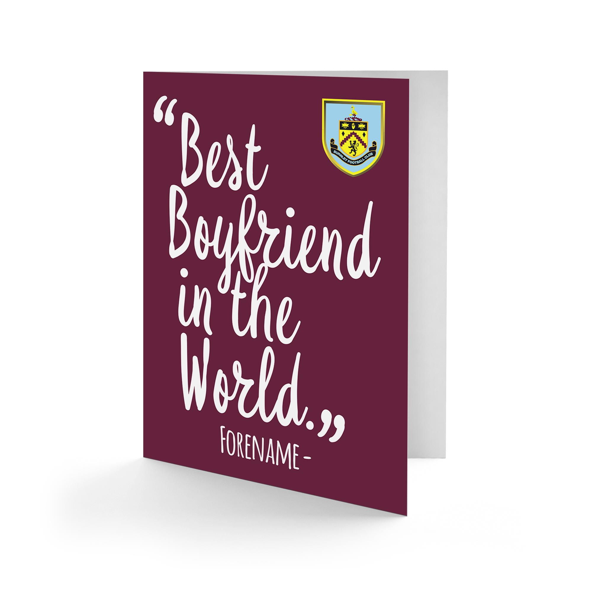 Burnley FC Best Boyfriend In The World Card