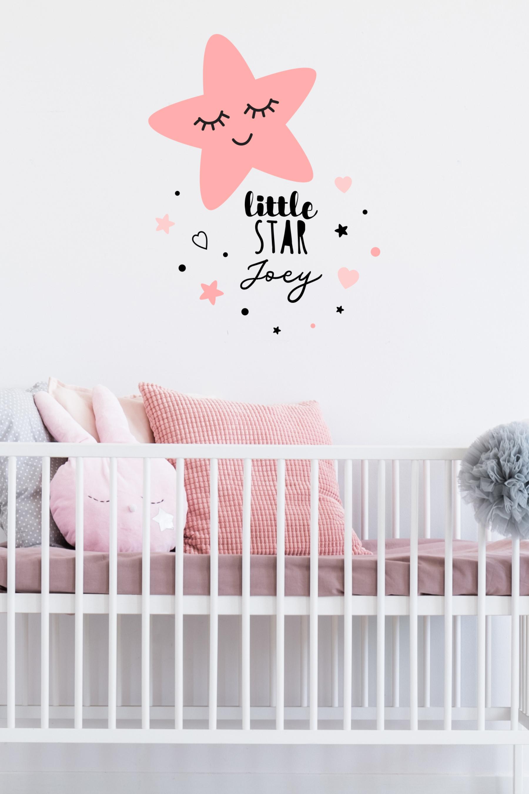 Pink Star Sticker Set