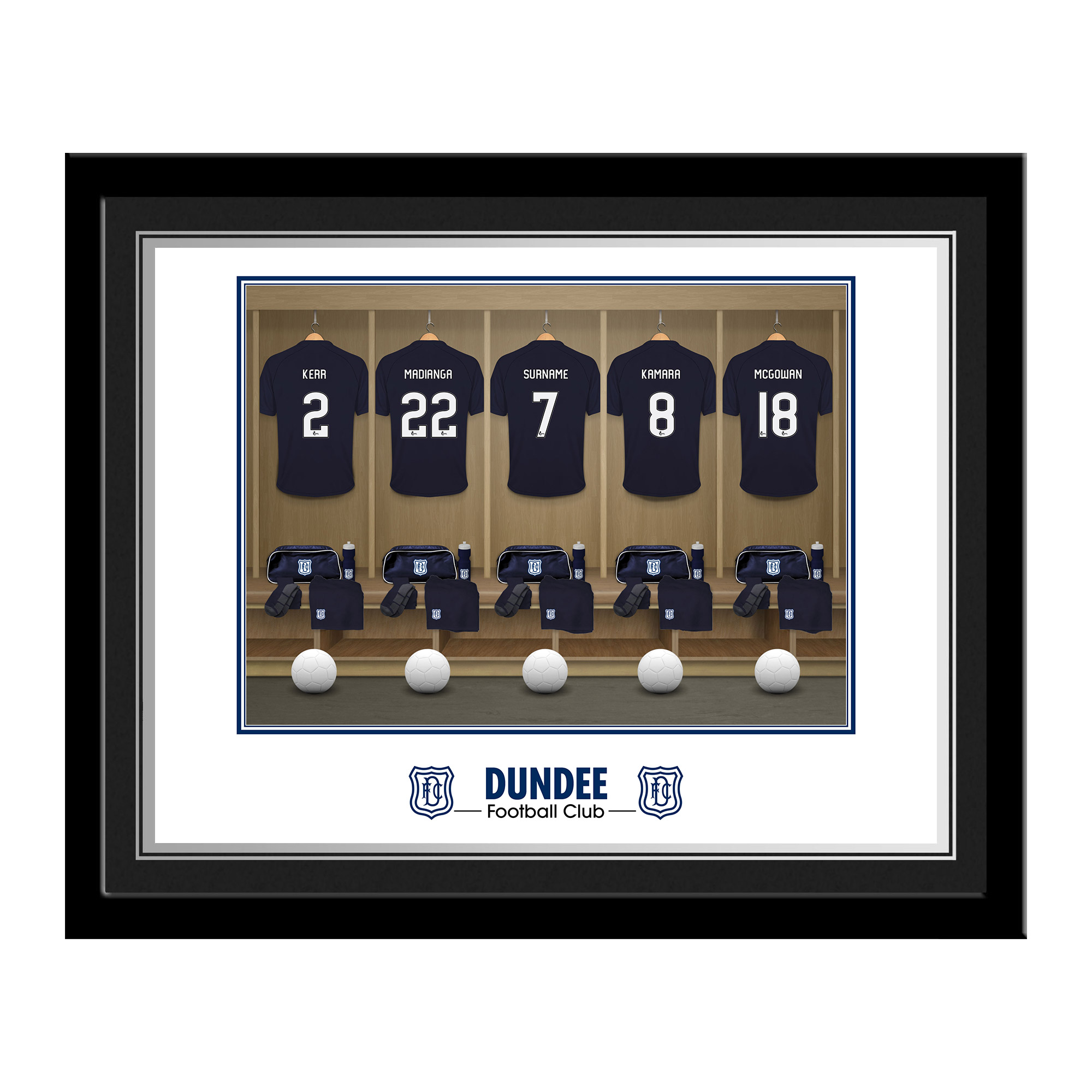 Dundee FC Dressing Room Photo Framed