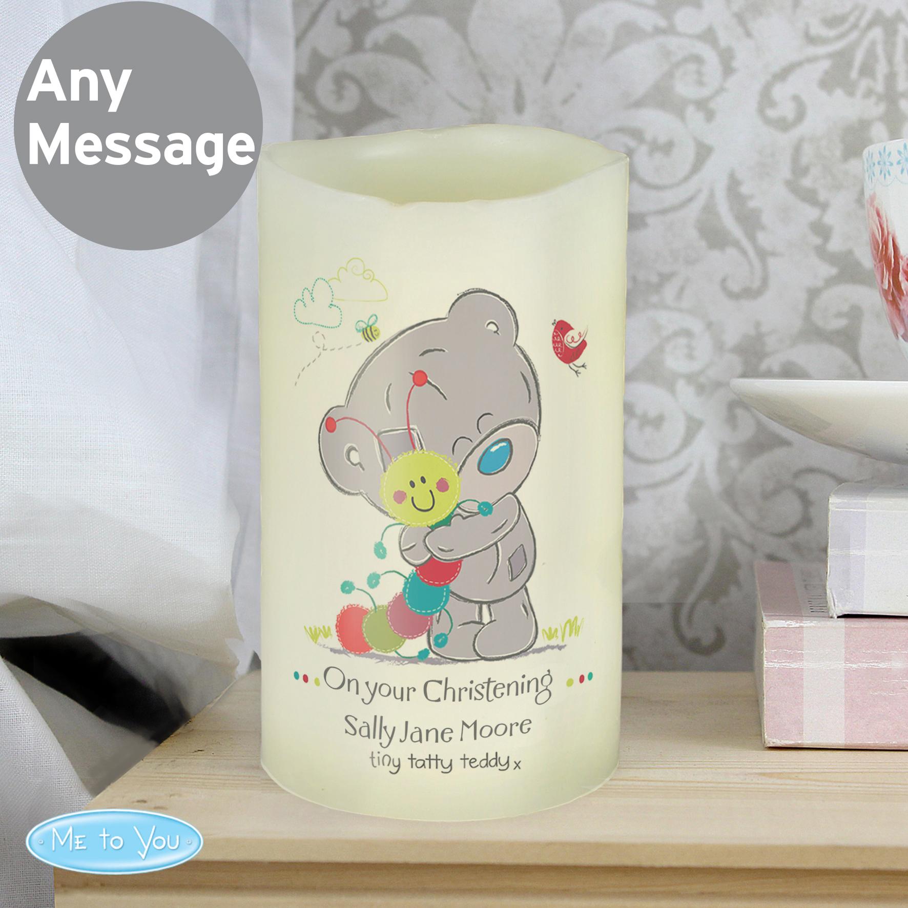 Personalised Tiny Tatty Teddy Cuddle Bug LED Candle
