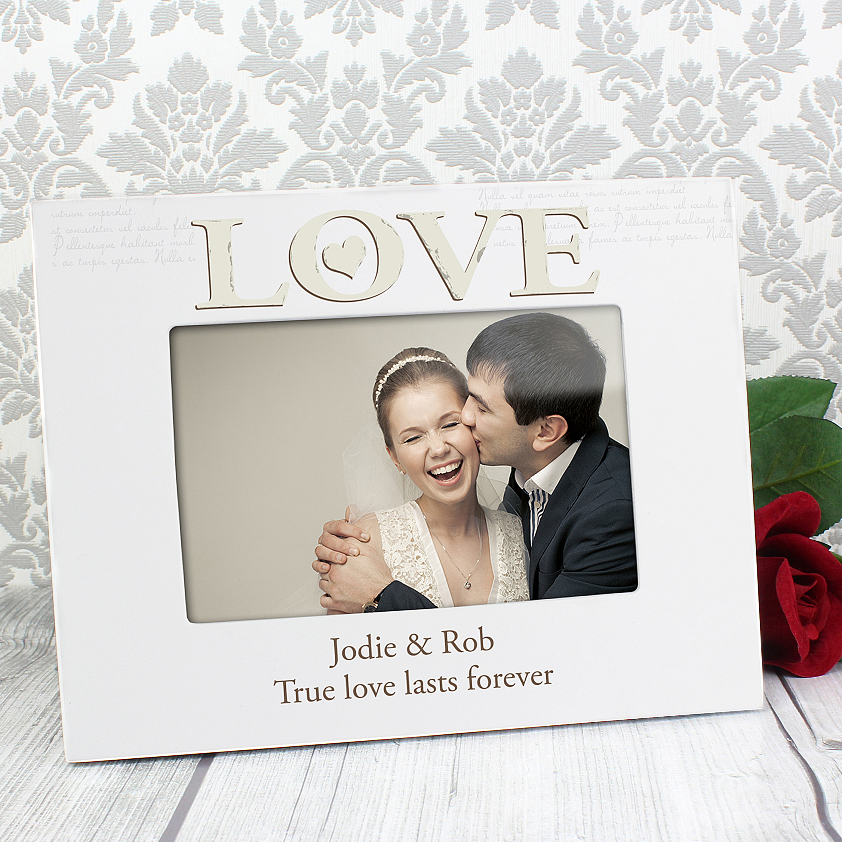 Personalised Love White Frame