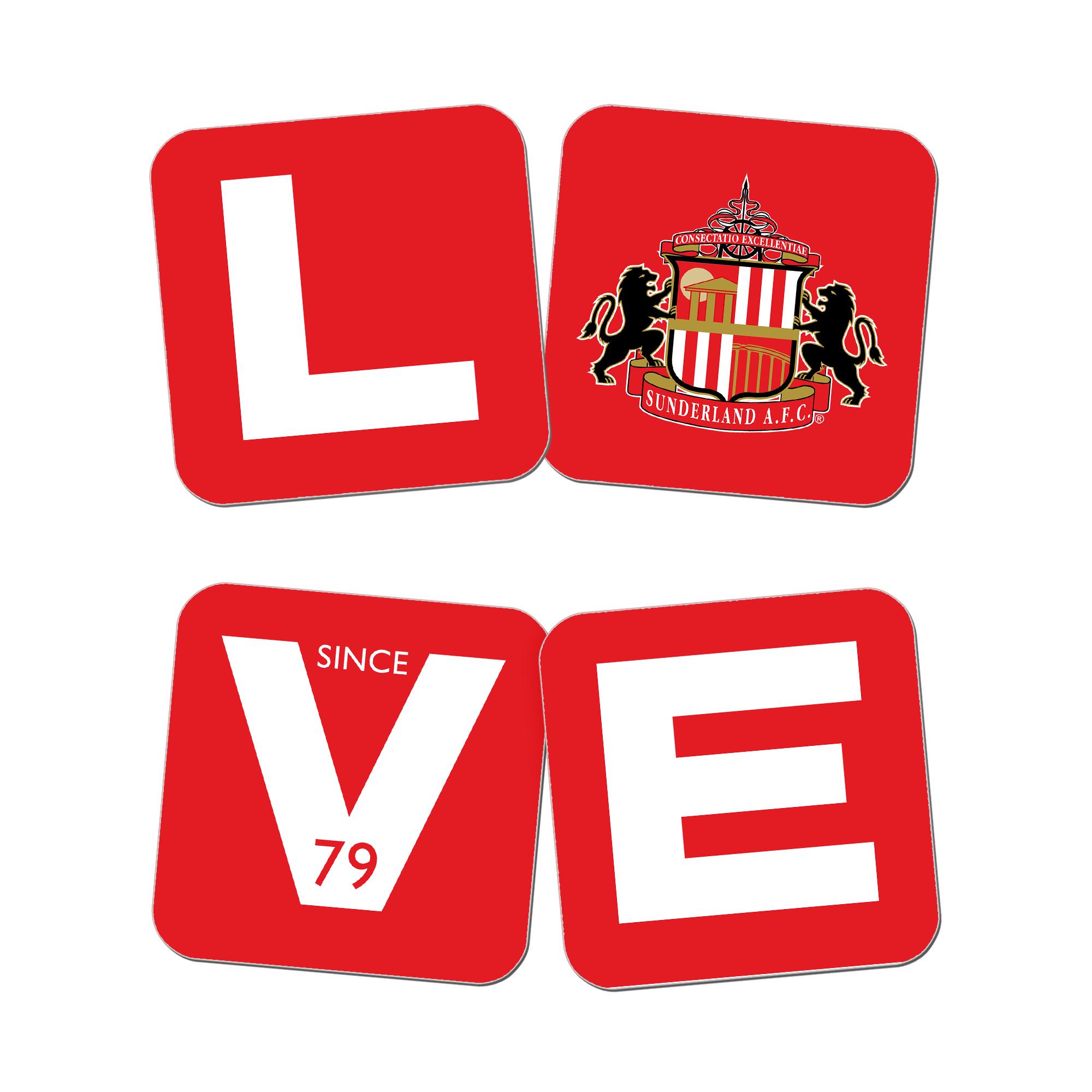 Sunderland Love Coasters (x4)