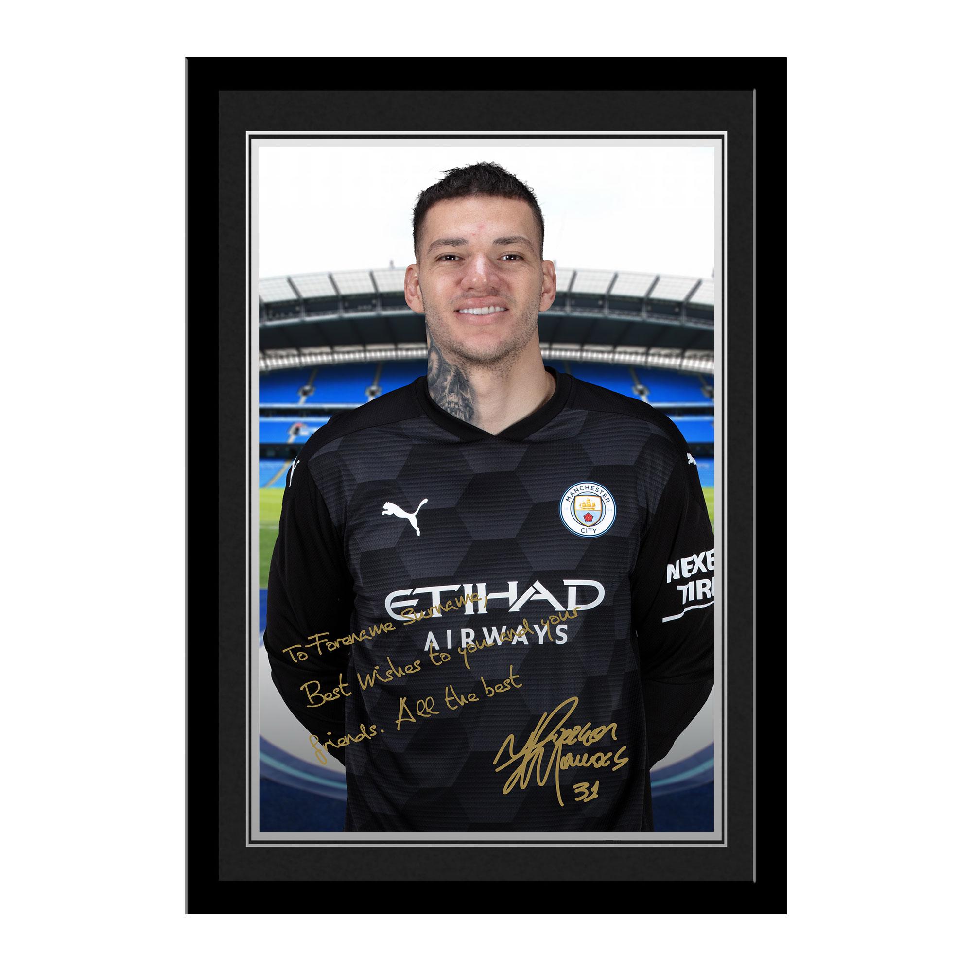Manchester City FC Ederson Autograph Photo Framed