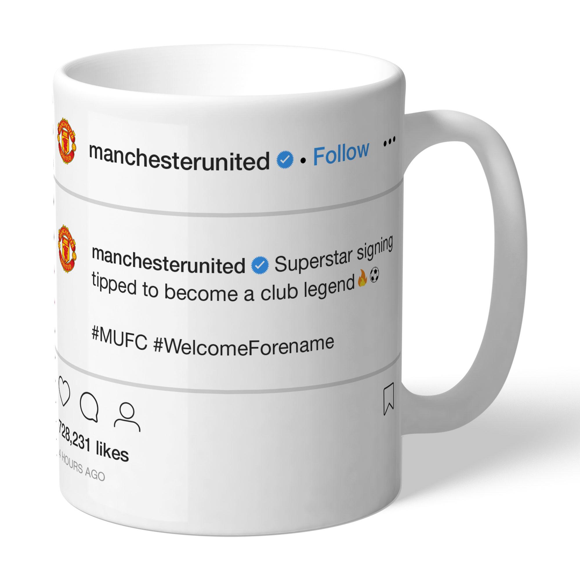Manchester United FC Social Media Mug