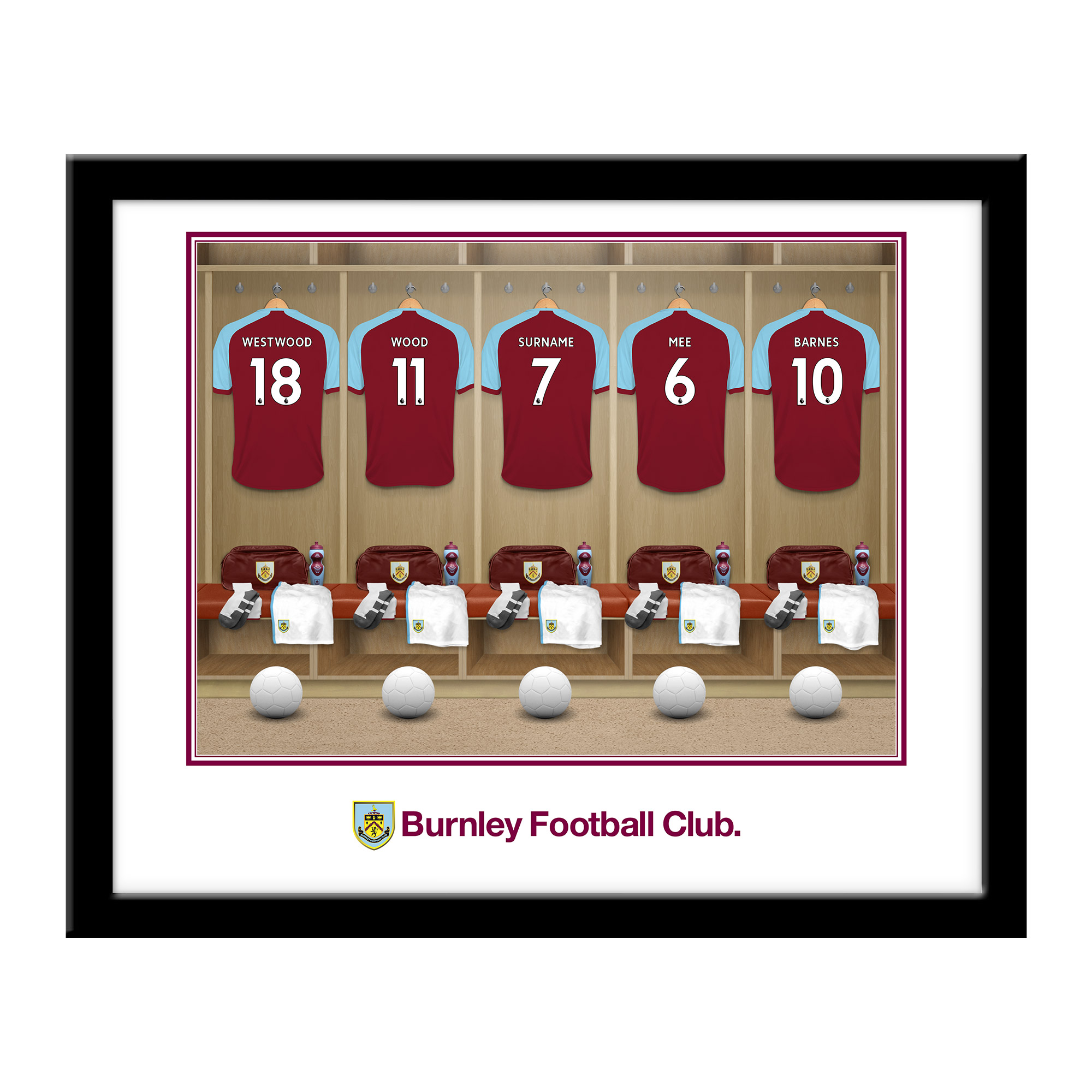 Burnley FC Dressing Room Framed Print