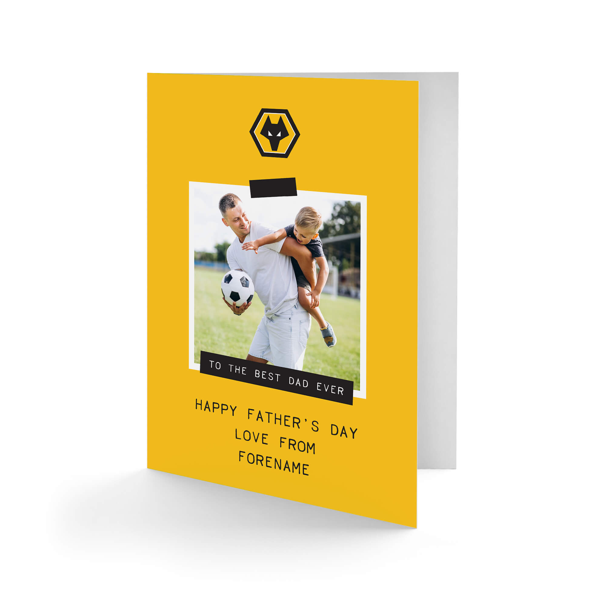Wolves Best Dad Ever Photo Upload Father's Day Card