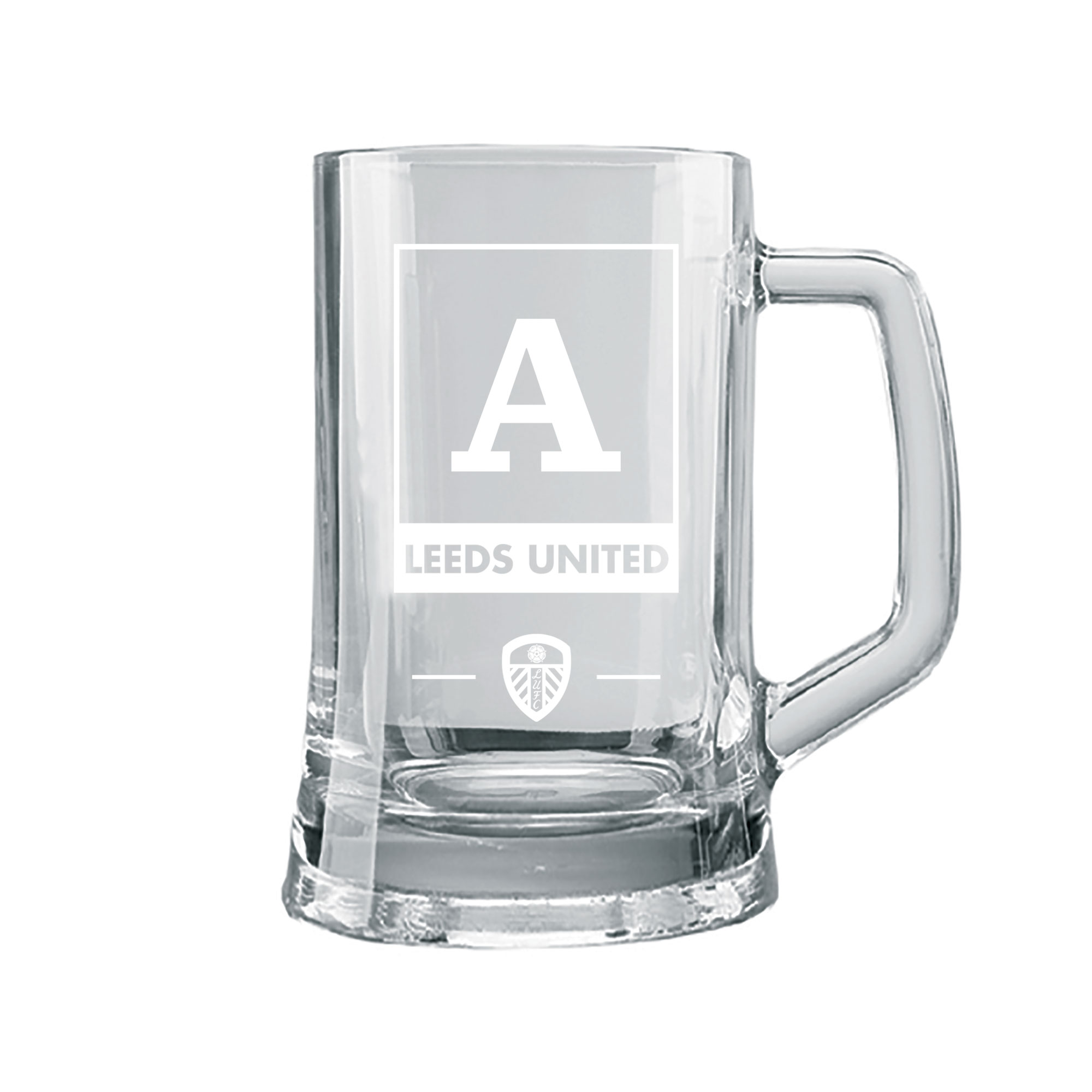 Leeds United FC Monogram Large Straight Sided Tankard
