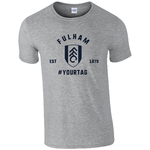 Fulham FC Vintage Hashtag T-Shirt